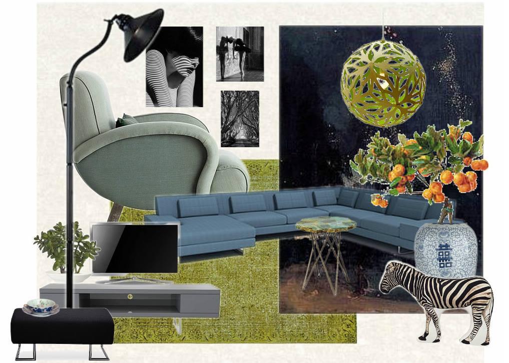 Mood board pro moderní interiér. Daniela Janssen