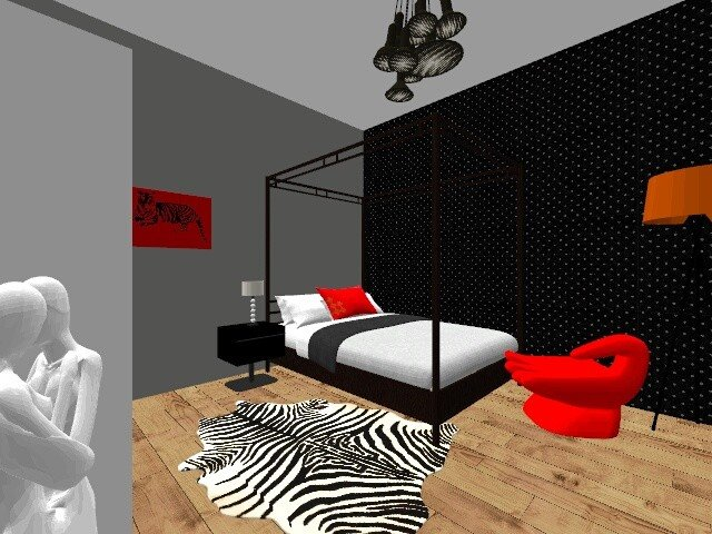 Vizualizace ložnice – Sandra Moncmann