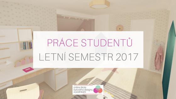 Práce studentů – letní semestr 2017
