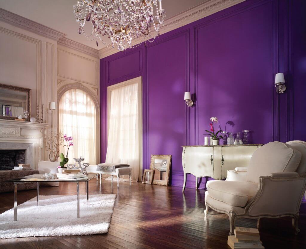 Clean And Violet Living Room Ideas pertaining to Violet Interior Design