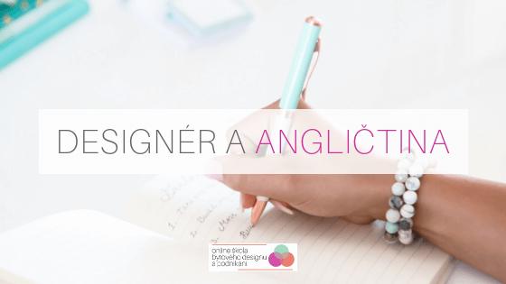 Designér a angličtina