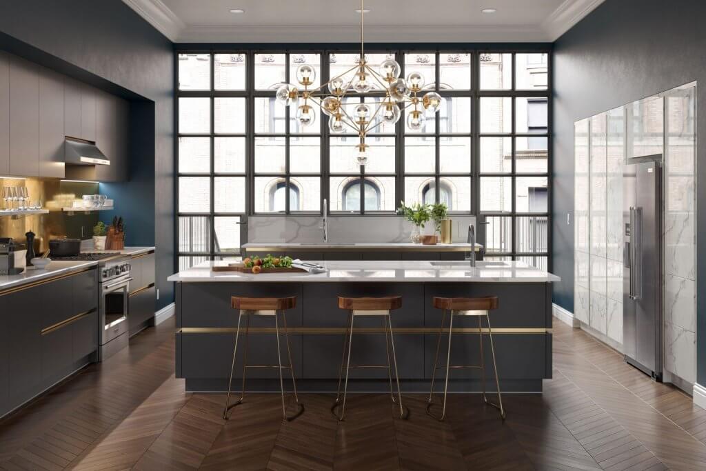 netradiční řešení, kuchyně se dvěma ostrůvky, kuchyň, Jana Pěkná, Interiérový design, blog, škola interiérového designu,